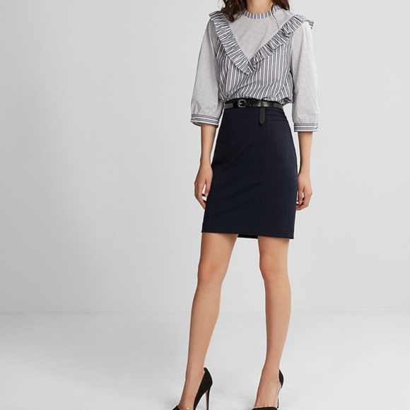 c38627f01250 Express Dresses   Skirts - Express High Waisted Pintucked Pencil Skirt
